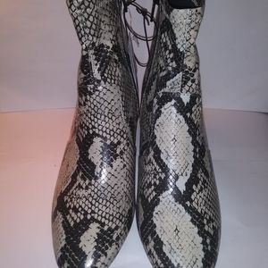 Time and Tru Women's Fashion Mid-Calf Boot, Snake